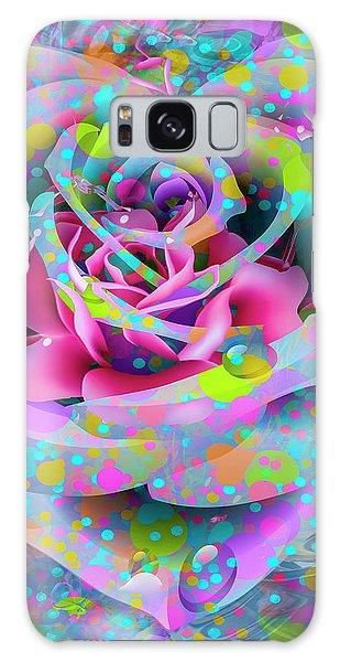 Galaxy Case featuring the digital art Rose by Eleni Mac Synodinos