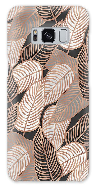 Rose Gold Jungle Leaves Galaxy Case