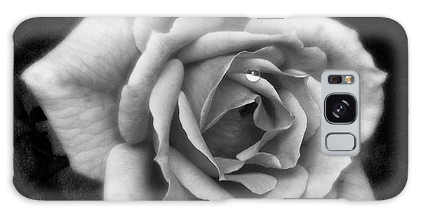Beautiful Galaxy Case - Rose In Mono. #flower #flowers by John Edwards