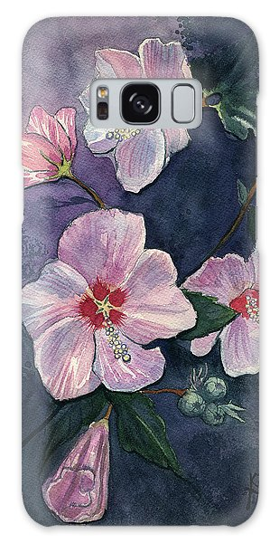 Rose Of Sharon Galaxy Case by Katherine Miller