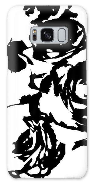 Rose Outline Galaxy Case