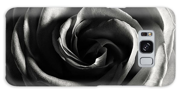 Rose Study 1 In Black And White Galaxy Case