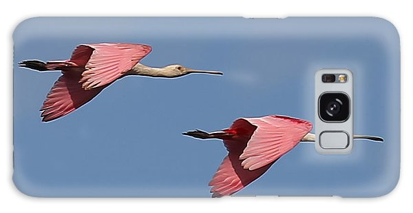 Galaxy Case featuring the photograph Roseate Spoonbills by Dart and Suze Humeston