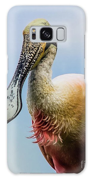 Roseate Spoonbill Close-up Galaxy Case by Robert Frederick