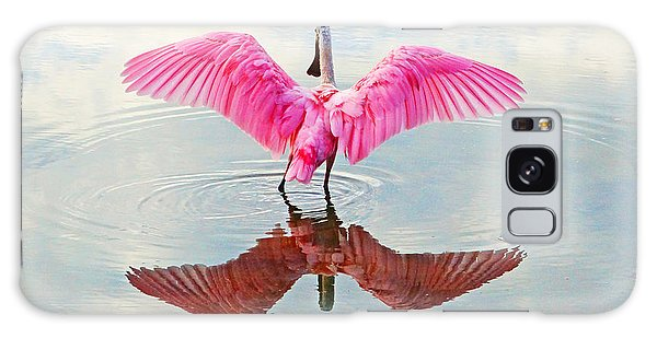 Roseate Spoonbill Pink Angel Galaxy Case