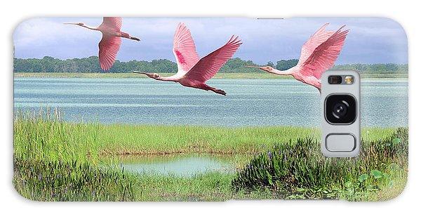 Roseate Spoonbills Of Florida Bay Galaxy Case