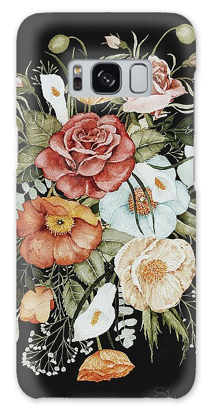 Pink Flower Galaxy Case - Roses And Poppies Bouquet by Shealeen Louise