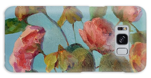 Roses And Wildflowers Galaxy Case