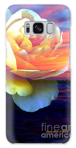 Roses Basking In A Ocean Sunset Galaxy Case