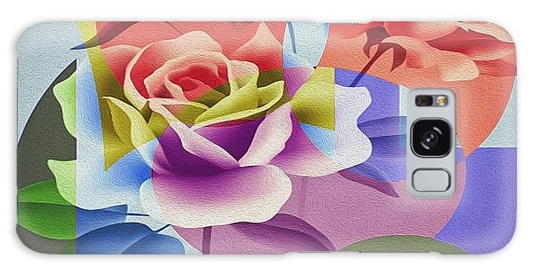 Galaxy Case featuring the digital art Roses For Her by Eleni Mac Synodinos