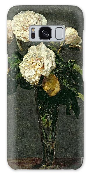 Lives Galaxy Case - Roses In A Champagne Flute by Ignace Henri Jean Fantin-Latour