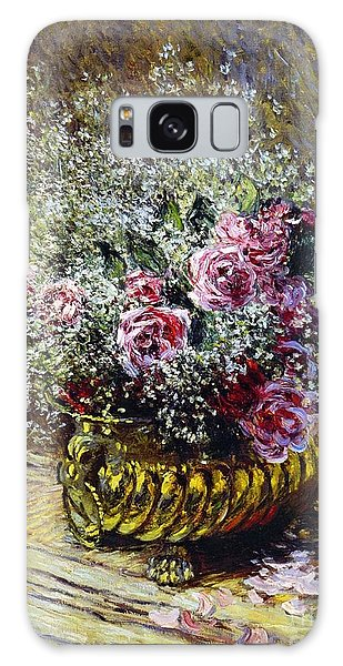 Roses In A Copper Vase Galaxy Case