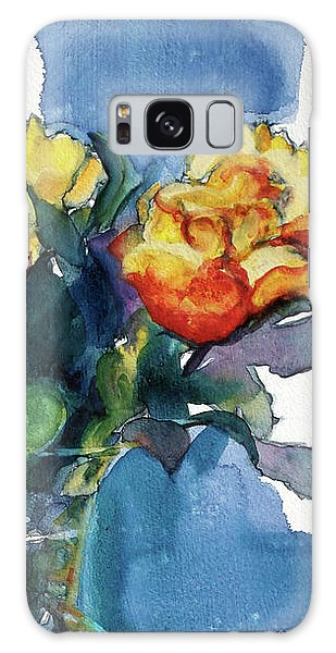 Roses In Vase Still Life I Galaxy Case by Kathy Braud
