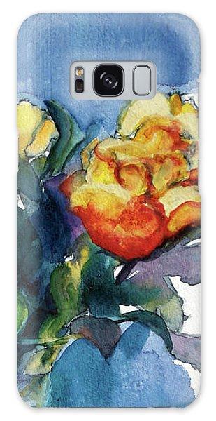 Roses In Vase Still Life I Galaxy Case