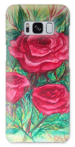 Roses Three Galaxy Case by Cathy Long