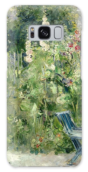 Flowerbed Galaxy Case - Roses Tremieres by Berthe Morisot