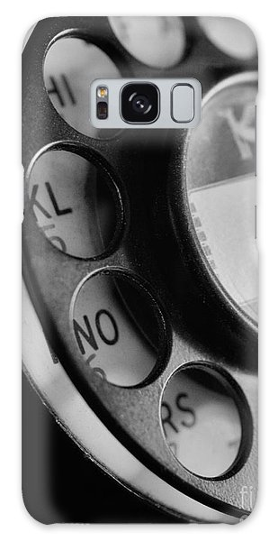 Rotary Dial In Black And White Galaxy Case by Mark Miller