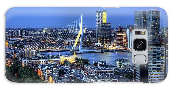 Rotterdam Skyline With Erasmus Bridge Galaxy Case by Shawn Everhart