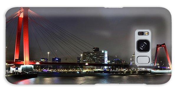 Rotterdam - Willemsbrug At Night Galaxy Case