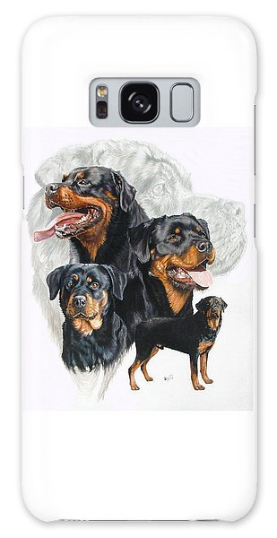 Rottweiler W/ghost  Galaxy Case