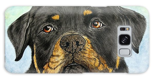 Galaxy Case - Rottweiler's Sweet Face 2 by Megan Cohen