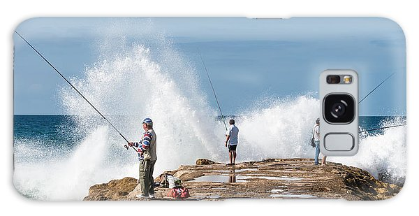 Rough Sea Fishing Galaxy Case