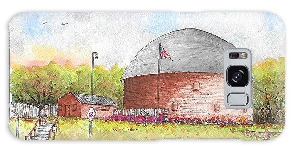 Round Barn In Route 66, Arcadia, Oklahoma Galaxy Case