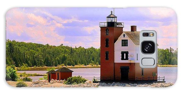 Round Island Lighthouse Galaxy Case