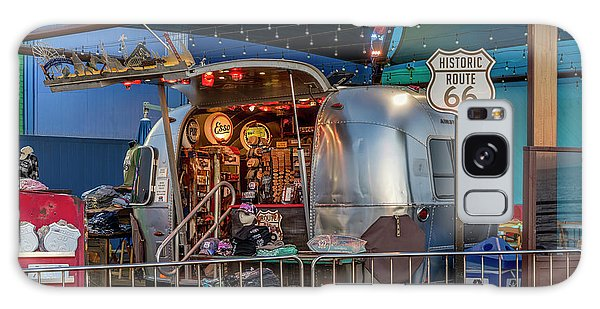 Route 66 And Airstream On Tha Pier Galaxy Case