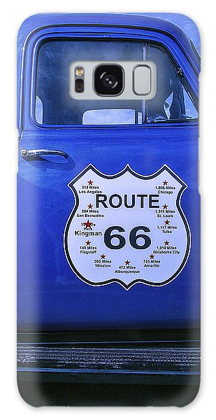 66 Galaxy Case - Route 66 Blue Truck by Garry Gay