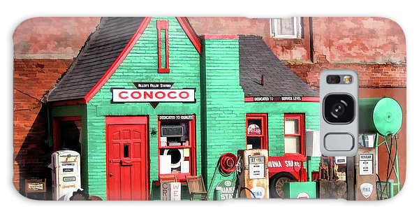 66 Galaxy Case - Route 66 Conoco Station Oklahoma by Christopher Arndt