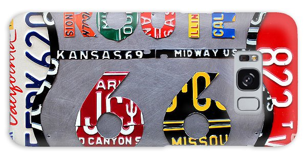 Automotive Art Galaxy Case - Route 66 Highway Road Sign License Plate Art by Design Turnpike