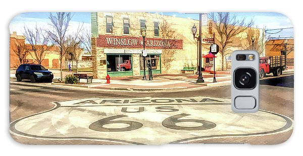 66 Galaxy Case - Route 66 Standing On The Corner In Winslow Arizona Street by Christopher Arndt