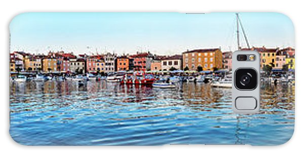 Rovinj Harbor And Boats Panorama Galaxy Case