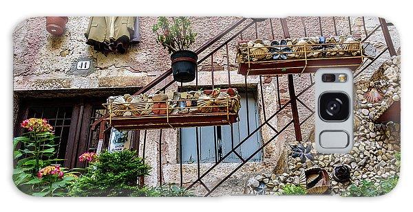 Rovinj Old Town Courtyard, Rovinj Croatia Galaxy Case
