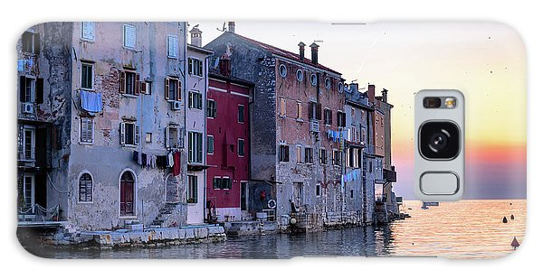 Rovinj Old Town On The Adriatic At Sunset Galaxy Case