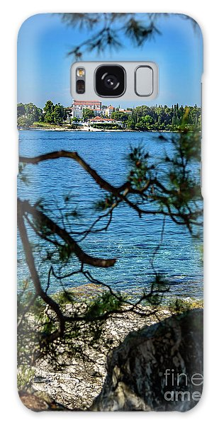 Rovinj Seaside Through The Adriatic Trees, Istria, Croatia Galaxy Case
