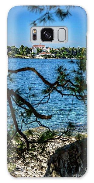 Rovinj Seaside Through The Adriatic Trees, Istria, Croatia Galaxy Case