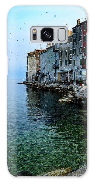 Rovinj Venetian Buildings And Adriatic Sea, Istria, Croatia Galaxy Case