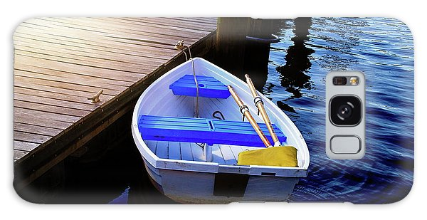 Rowboat At Sunset Galaxy Case by Inspirational Photo Creations Audrey Woods