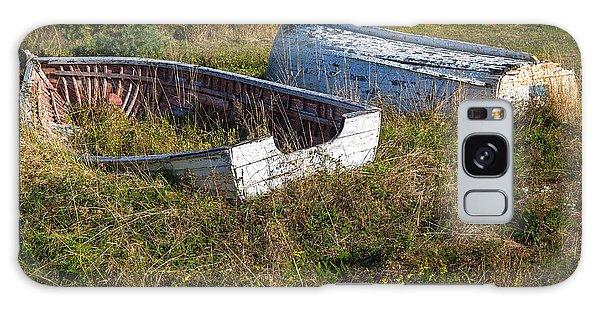 Rowboats In Brigus Galaxy Case by Verena Matthew