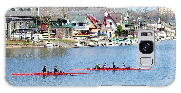 Rowing Along The Schuylkill River Galaxy Case