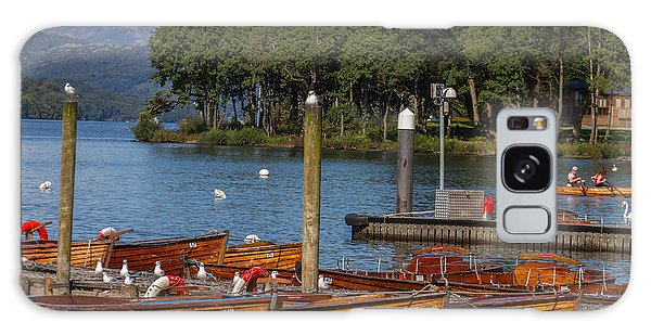 Galaxy Case - Rowing Boats On Edge Of Bowness-on-windermere by Iordanis Pallikaras