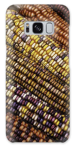 Indian Corn Galaxy Case - Rows Of Indian Corn by Garry Gay