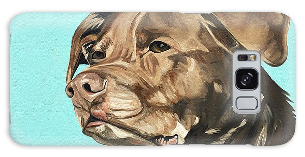 Chocolate Lab Galaxy Case - Roxy by Nathan Rhoads