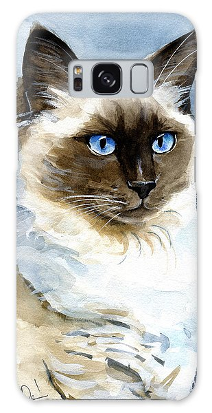 Roxy - Ragdoll Cat Portrait Galaxy Case