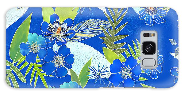 Royal Blue Aloha Tile 2 Galaxy Case