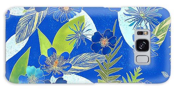 Royal Blue Aloha Tile 3 Galaxy Case