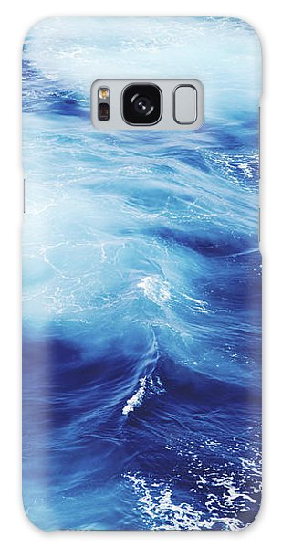 Waves Galaxy Case - Royal Blue by Clem Onojeghuo