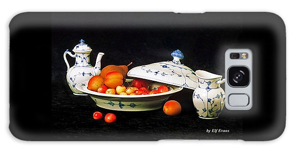 Royal Copenhagen And Fruits Galaxy Case by Elf Evans